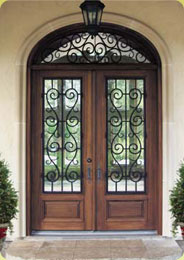 Weatherford Door and Window Company offers a variety of glass inserts, wrought iron, hardware, wood, vinyl, aluminum, or fiberglass.